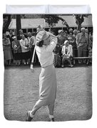 Babe Didrikson Teeing Off Duvet Cover