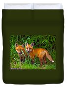 Babes In The Woods Impasto Duvet Cover