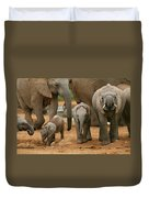 Baby African Elephants Duvet Cover