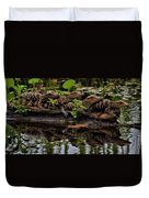 Baby Alligators Reflection Duvet Cover