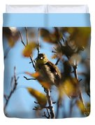 Baby American Goldfinch Learning To Fly Duvet Cover