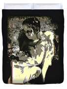 Baby Angel With Teddy Duvet Cover