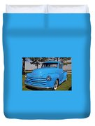Baby Blue Chevy From 1950 Duvet Cover
