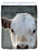 Baby Cow In Colorado Duvet Cover