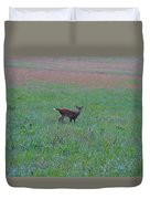 Baby Deer At Sunrise Duvet Cover