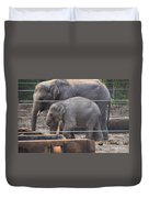 Baby Elephant Lily Duvet Cover