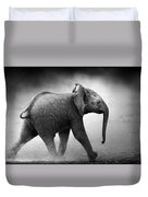 Baby Elephant Running Duvet Cover
