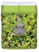 Baby Gator Duvet Cover by Adam Jewell