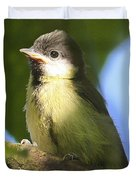 Baby Coal Tit Duvet Cover