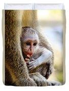 Baby Green Monkey - Barbados Duvet Cover