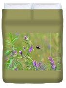 Baby Hummingbird Moth In Flight Duvet Cover