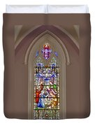 Baby Jesus Stained Glass Window Duvet Cover