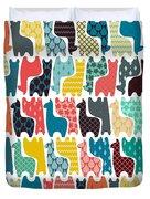 Baby Llamas Duvet Cover