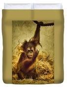 Baby Orangutan At The Denver Zoo Duvet Cover