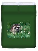 Baby Raccoon Duvet Cover
