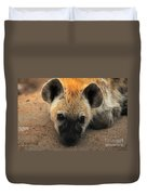 Baby Spotted Hyena Duvet Cover