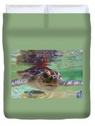 Baby Turtle Duvet Cover by Carey Chen