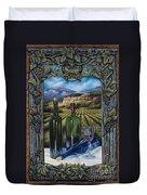 Bacchus Vineyard Duvet Cover by Ricardo Chavez-Mendez