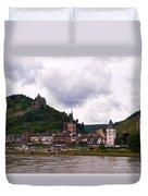 Bacharach Am Rhein And Burg Stahleck Duvet Cover