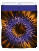 Bachelor Button Mandala Duvet Cover