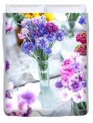 Bachelor Flowers Duvet Cover