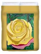 Back Bay Yellow Rose Duvet Cover