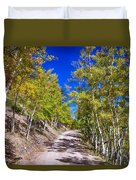 Back Country Road Take Me Home Colorado Duvet Cover