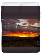 Back Country Sunset Duvet Cover by Robert Bales