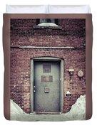 Back Door Alley Way Duvet Cover
