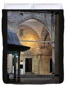 Back Lit Interior Of Mosque  Duvet Cover