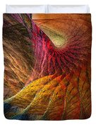 Back On Earth Abstract Art Print Duvet Cover