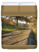 Back Road Morning Duvet Cover by Bill Wakeley