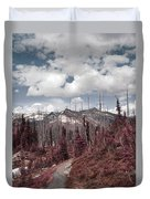 Back To Mountains Duvet Cover