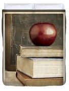 Back To School Apple For Teacher Duvet Cover
