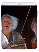 Back To The Future Duvet Cover by Paul Tagliamonte
