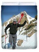 Backcountry Skiing, Citadel Peak, Co Duvet Cover
