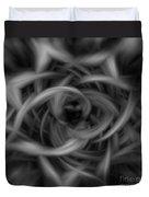 Background Flames Bw Dark Duvet Cover