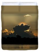 Backlit Clouds During Sunset Over Lago Duvet Cover