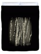 Backlit Sepia Toned Wild Grasses In Black And White Duvet Cover