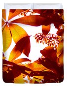 Backlit Tree Leaves 2 Duvet Cover