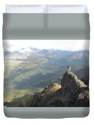 Backpackers Hike In Chugach State Park Duvet Cover