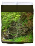 Backroads Waterfall In West Virginia Duvet Cover