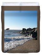 Backwash On Sunset Beach Cape May Duvet Cover