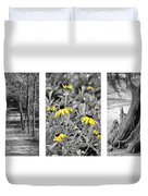 Backwoods Escape Triptych Duvet Cover