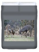 Backyard Brawl Duvet Cover