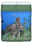 Backyard Bunny Duvet Cover