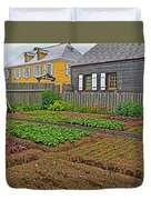 Backyard Garden In Louisbourg Living History Museum-1744-ns Duvet Cover
