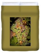 Backyard Garden Series -hidden Grape Cluster Duvet Cover