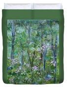 Backyard Mountain Laurel Duvet Cover