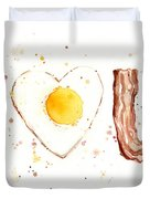 Bacon And Egg I Love You Duvet Cover